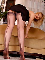 Angel Lovette fully fashioned stockings