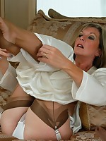 sleeping beauty in silk and nylon