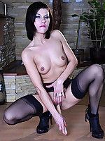 LacyNylons :: Lily C stockings clad woman