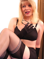 Black genuine reinforced Nylons ~Nylon-Angel.com~